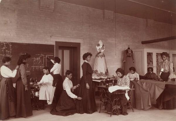 Learning Dressmaking, Tuskegee Institute