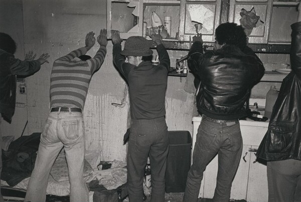 A shooting gallery raid, New York City