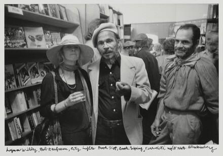 Lynne Wildey, Bob Kaufman, City Lights Book Shop, book signing, Ferlinghetti right rear.