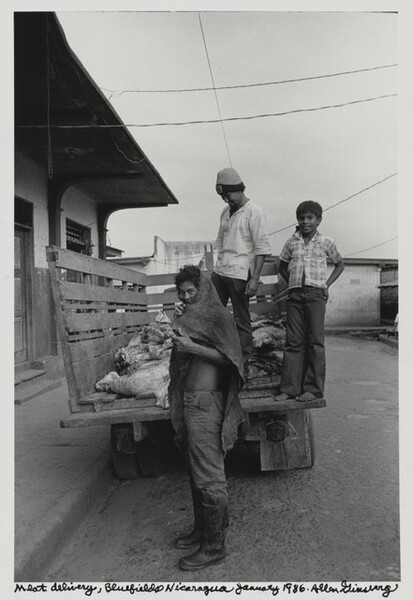 Meat delivery, Bluefields Nicaragua, January 1986.