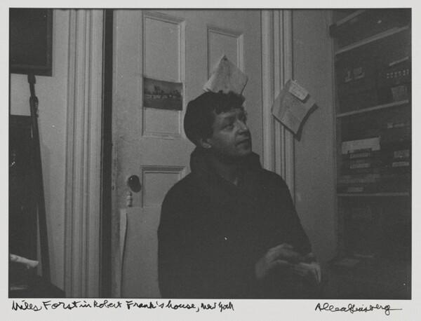 Miles Forst in Robert Frank's house, New York
