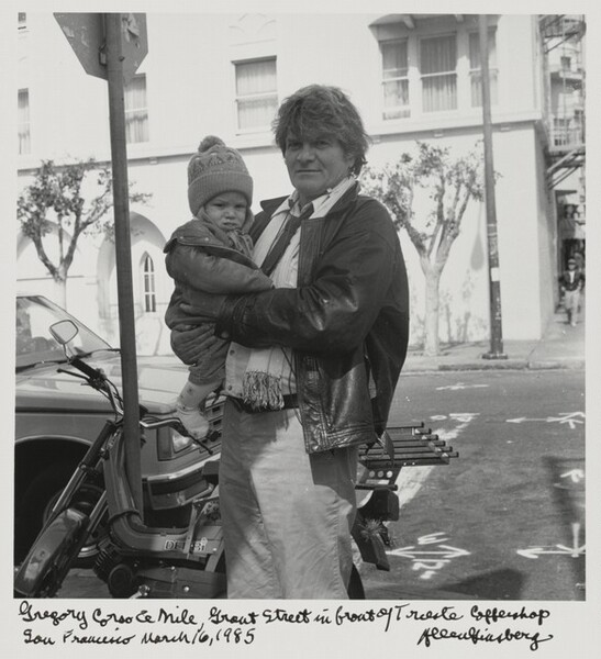Gregory Corso & Nile, Grant Street in front of Trieste Coffeeshop San Francisco March 16, 1985