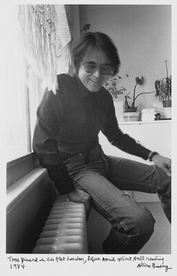 Tom Pickard in his flat London, before April Albert Hall reading. 1984