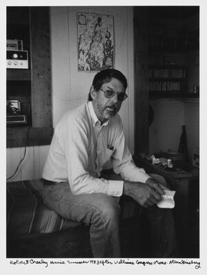 Robert Creeley Maine Summer 1983 after Williams Congress Orono.