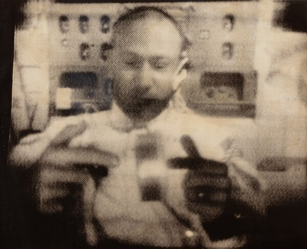 Apollo 11 Astronaut Edwin Aldrin Spins a Can of Ham for Televiewers