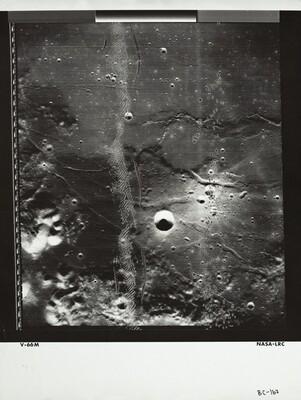 Lunar Orbiter, Medium Resolution, LOIV M-066 LRC