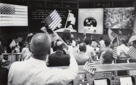 Celebration after Apollo 11 Made Flawless Splashdown