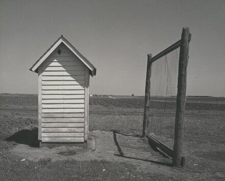 Nebraska Outhouse and Backstop