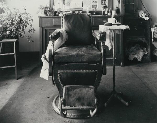 Barber's Chair, Cahow's Barber Shop, Chapman, Nebraska