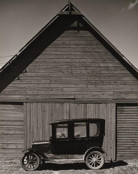 Model T in front of Barn, near Norfolk, Nebraska