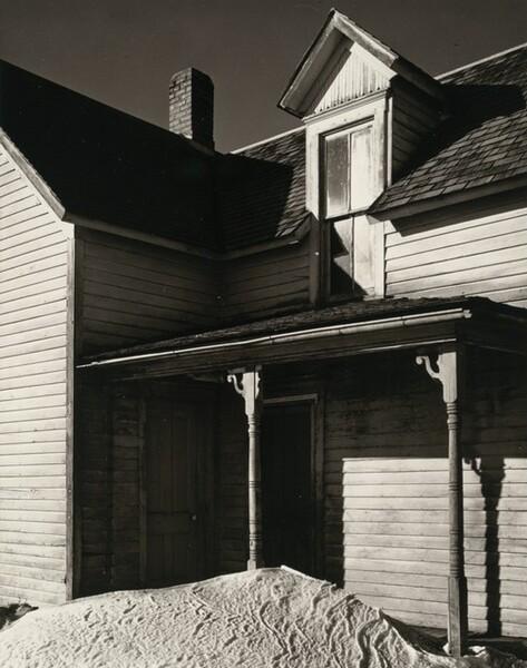 Farmhouse with Snowbank, near Lincoln, Nebraska