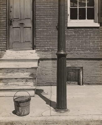 Row House with White Steps, Baltimore, Maryland
