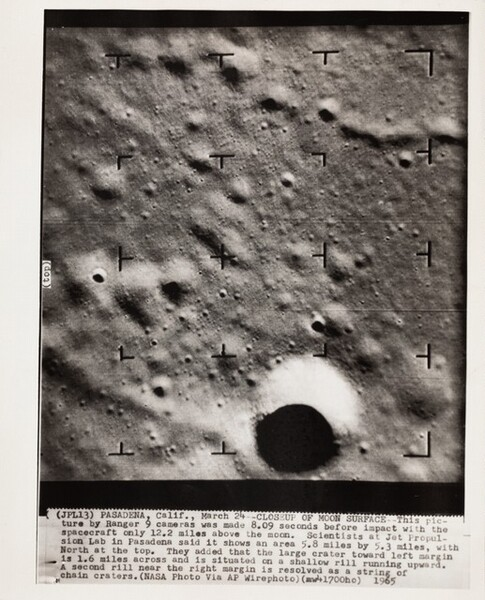 Closeup of Moon Surface