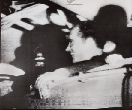 President Nixon aboard U.S.S. Hornet