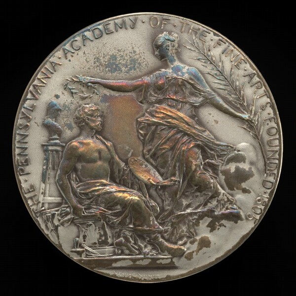 Pennsylvania Academy of the Fine Arts Founder's Medal (obverse)