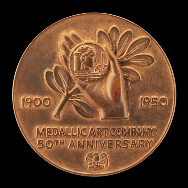 Fiftieth Anniversary Medal of Medallic Art Company [reverse]