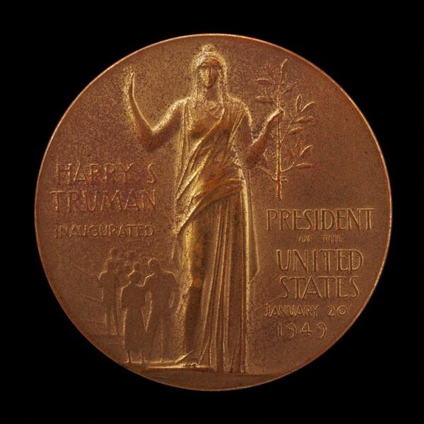 Harry S. Truman Inaugural Medal [reverse]