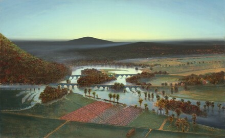 Flooded Oxbow with Green Light, for Betty and Agnes Mongan (Mass MoCA #265)