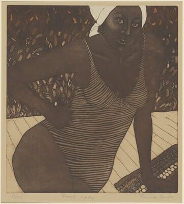 Emma Amos, Pool Lady, 1980
