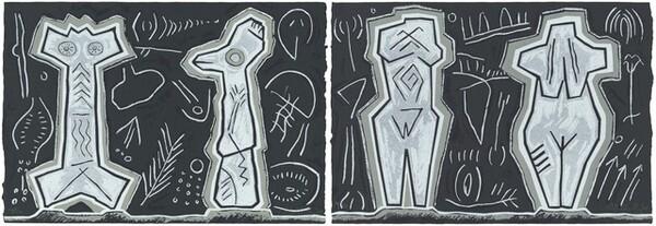 Venus Figures and Batons de Commandment