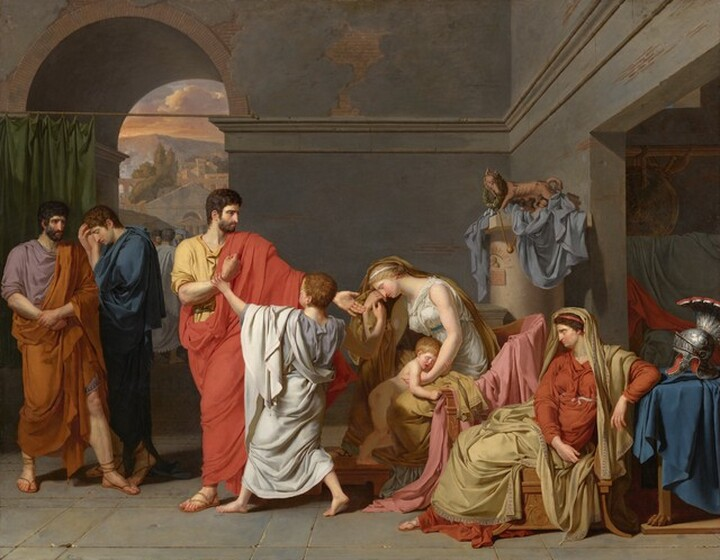 Anne-Louis Girodet de Roussy-Trioson, Coriolanus Taking Leave of his Family, 17861786
