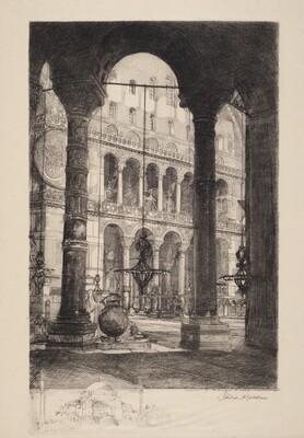 Interior of the Mosque, Saint Sophia, Constantinople