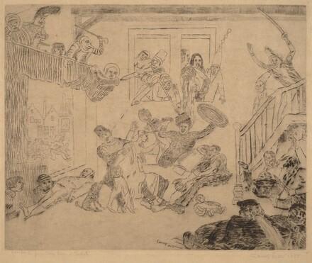 Battle of the Beggars Desir and Rissole (Combat des pouilleux Desir et Rissole)