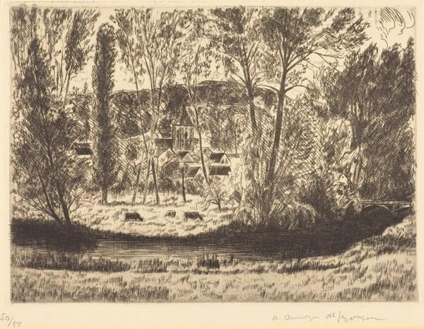 The Church at Villiers through the Trees (L'Eglise de Villiers dans les arbres)