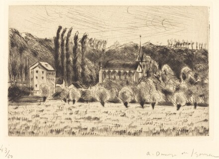 The Chapel at Crecy, Large Plate  (La Chapelle de Crecy (grande planche))