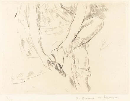 Woman with Slipper (La Femme a la mule)