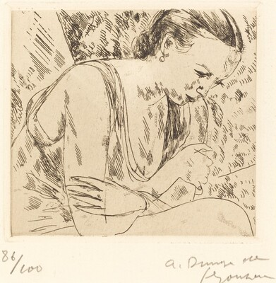 Fernande with Arms Crossed, Second Plate (Fernande les mains croisees (planche moyenn
