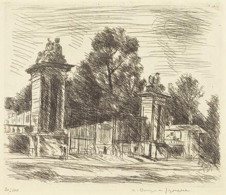 Entrance to the Orangerie, Versailles (Large Plate) (Versailles, l'Entree de l'Orange