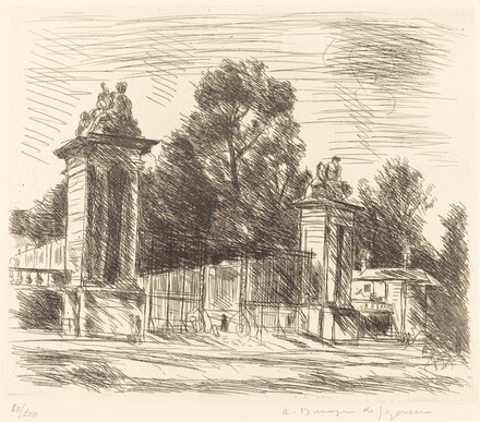 Entrance to the Orangerie, Versailles (Large Plate) (Versailles, l'Entree de l'Orange