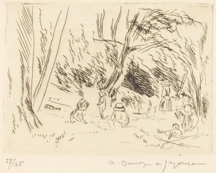 Children in the Forest at Chaville (Bois de Chaville, les gosses)