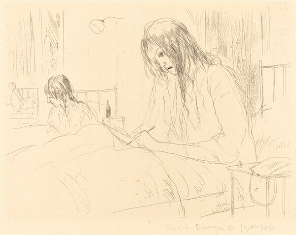Berthe at the Hospital, The Letter (Berthe a l'hopital: la lettre)