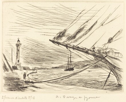 Bow of a Ship, Saint-Tropez  (Saint-Tropez, la proue du voilier)