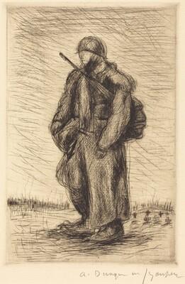 Lone Soldier in Battle-Dress