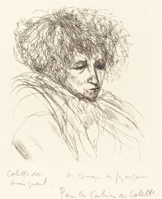 Colette de trois quarts (Colette in Three-Quarter View)