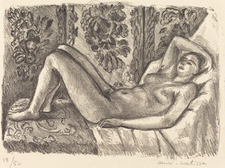 Reclining Nude with Louis XIV Screen (Nu couché au paravent Louis XIV)