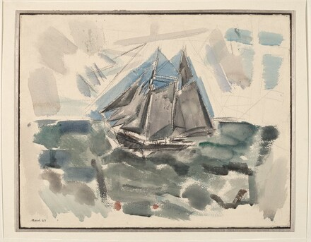 Movement No. 9, Sea and Boat, Deer Isle, Maine