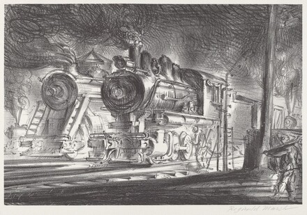 Switch Engines, Erie Yards, Jersey City, Stone No.3