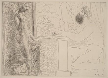 Sculptor at Work with Marie-Thérèse Posing (Sculpteur travaillant sur le motif avec Marie-Thérèse posant)