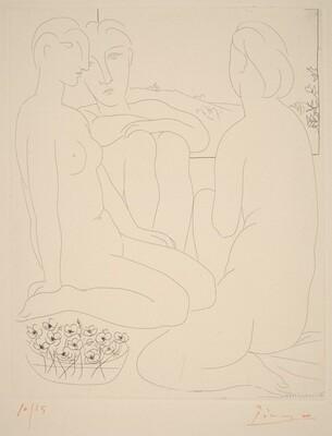Three Nudes and a Basin of Anemones (Trois femmes nues et une coupe d'anémones)