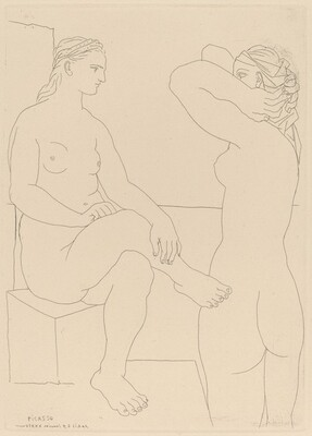 Two Women at the Bath (Deux femmes au bain)