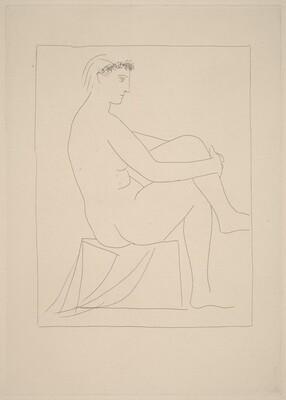 Nude with a Coronet of Flowers (Femme nue couronne de fleurs)