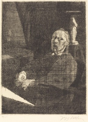 The Great Draftsman Seated (Le grand dessinateur assis)