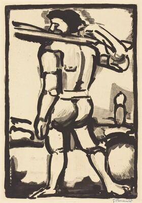 Aide-Borreau (Portant un de Bois de la Croix)