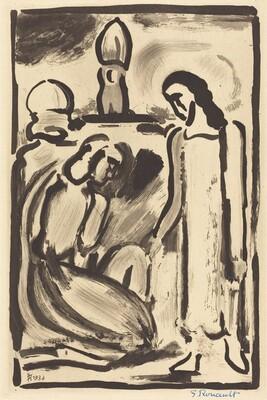 Christ et Sainte Femme