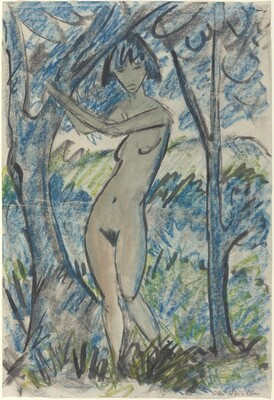 Standing Nude in a Landscape