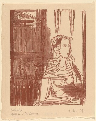 Illustration to Balzac, La Bourse